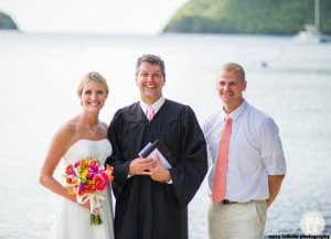 Wedding minister and officiant in St. Thomas and St. John, US Virgin Islands