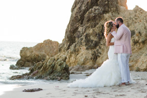 st thomas wedding at Limetree Beach at sunset