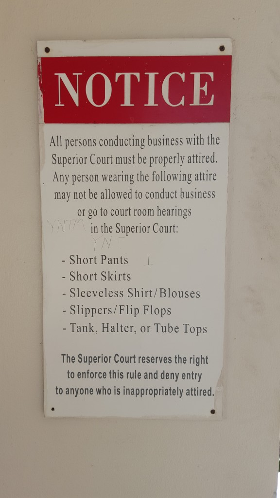 dress code for Virgin Islands Superior Court for marriage license