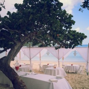 planning a beach wedding reception for a destination wedding