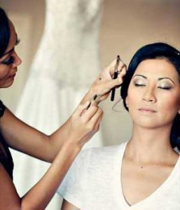 hair and makeup for a destination wedding