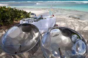 steel pan music is perfect for a beach wedding