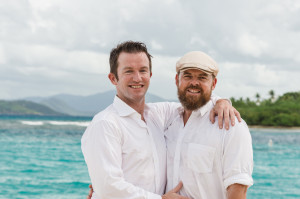 same-sex wedding at limetree beach in st thomas