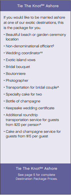 Princess Cruise Lines Wedding Package
