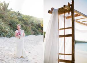 bamboo arch for beach wedding
