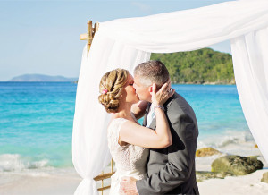 st. John beach wedding