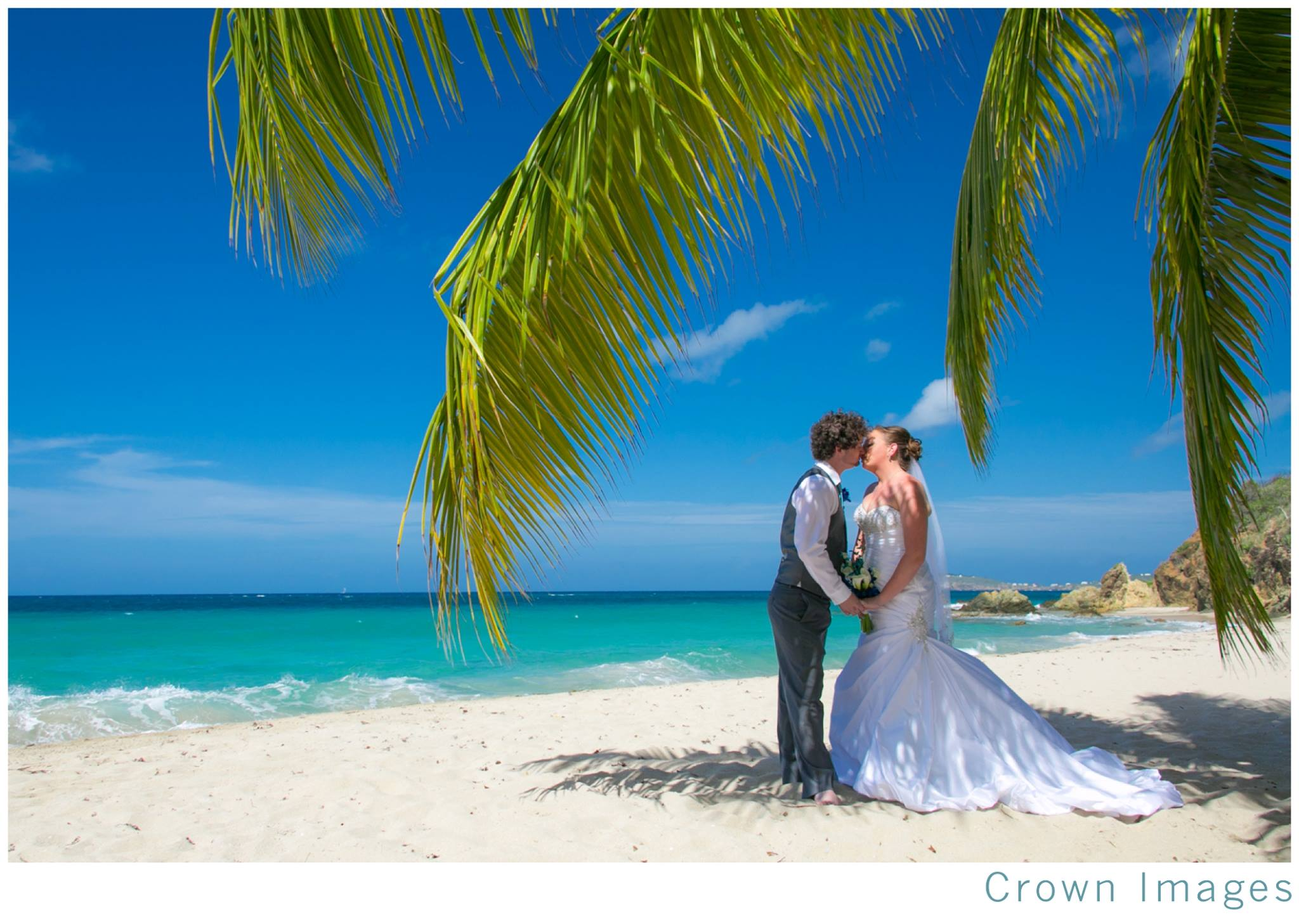 Morning Wedding On Limetree Beach In St Thomas