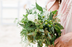 natural wedding bouquet with caribbean plants