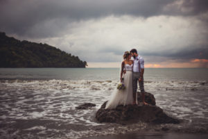 beach wedding in the st thomas rain
