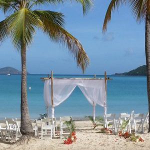 cruise wedding location at magens bay