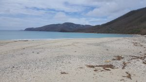 Brewers Beach on the west end of St. Thomas after 2 storms