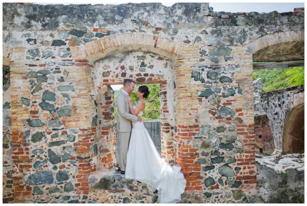 wedding at annaberg ruins in st john