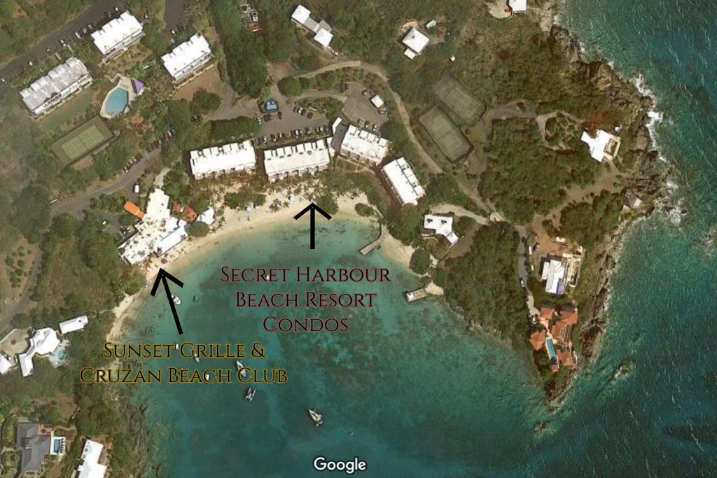 satellite image of secret harbour beach