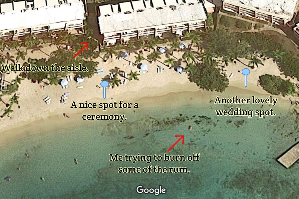 Secret Harbour Beach Map for best wedding locations